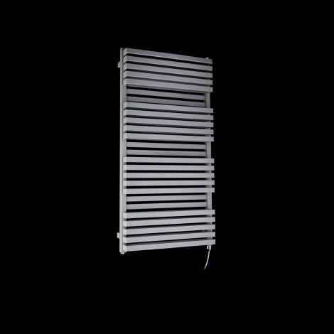 Terma Quadrus Bold Light Grey High Output Double Electric Towel Rail 1185mm high x 600mm wide