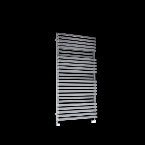 Terma Quadrus Bold Light Grey High Output Double Heated Towel Rail 1185mm high x 600mm wide