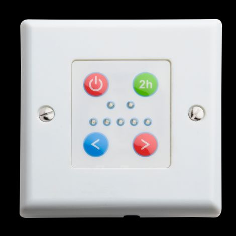 White Temperature Control Plate With 2hr Boost Function - For Use With Fixed Heat Elements Only