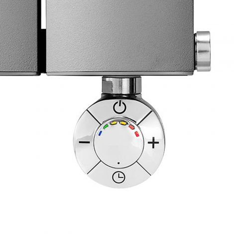 Geyser SMART Chrome Thermostatic Element for Radiator or Towel rail - Close Up Front