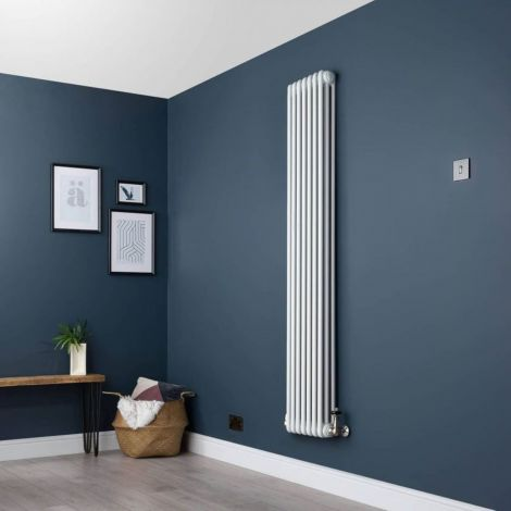 Old Style White Traditional 3 Column Radiators 1800mm high - Multiple width options