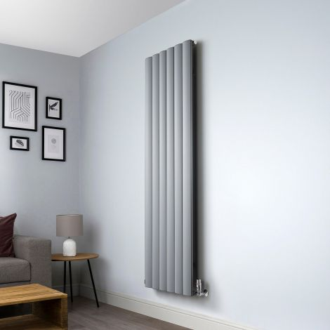 Aero Grey Vertical Designer Radiator - 1800mm x 565mm
