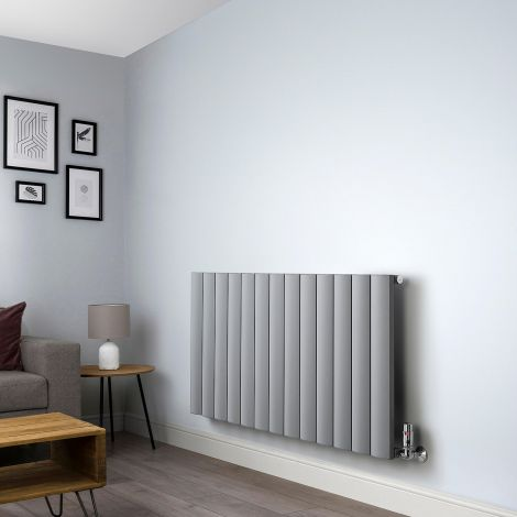 Aero Grey Vertical Designer Radiator - 600mm x 1230mm,Aero Grey Vertical Designer Radiator - Shoulder Close Up,Aero Grey Vertical Designer Radiator - Flow Valve Close Up,Aero Grey Vertical Designer Radiator - Return Valve Close Up