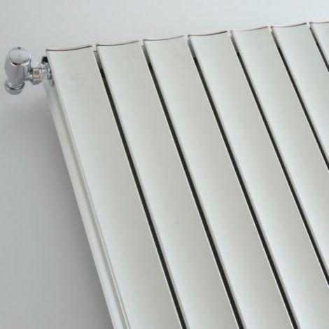 Coventry White High Output Vertical Aluminium Designer Radiator 1500mm high - Multiple Size Options