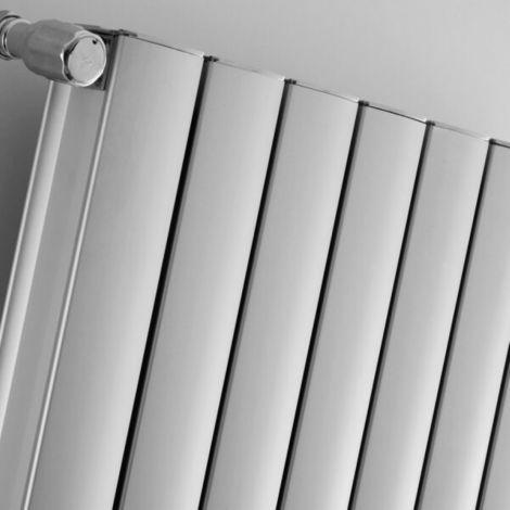 Coventry White High Output Vertical Aluminium Designer Radiator 1800mm high - Multiple Size Options