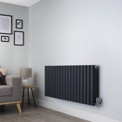 Venn Anthracite Designer Radiator - 600mm high x 1440mm wide