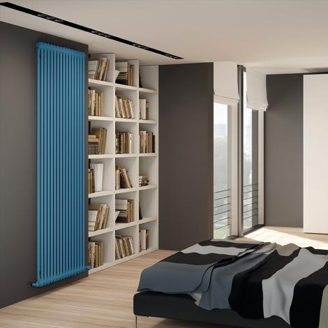 Bespoke Gloss Pastel Blue Traditional 2 Column Radiators - Multiple Sizes