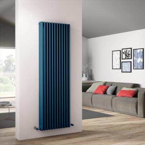Bespoke Gloss Pastel Blue Traditional 4 Column Radiators - Multiple Sizes