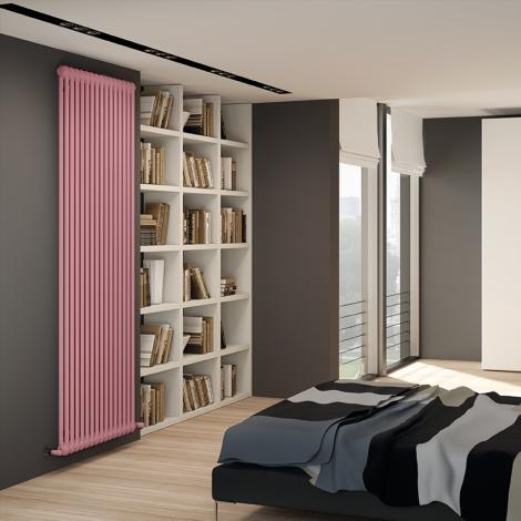 Bespoke Gloss Pink Traditional 2 Column Radiators - Multiple Sizes