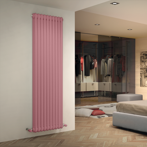 Bespoke Gloss Pink Traditional 3 Column Radiators - Multiple Sizes