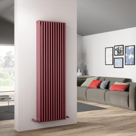 Bespoke Gloss Pink Traditional 4 Column Radiators - Multiple Sizes