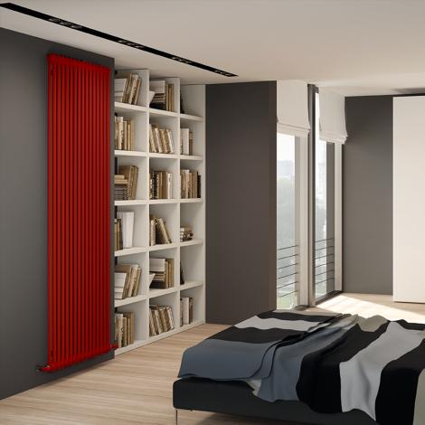 Bespoke Gloss Red Traditional 2 Column Radiators - Multiple Sizes