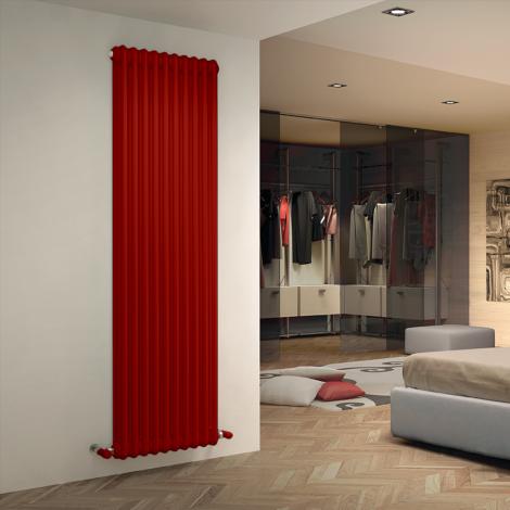 Bespoke Gloss Red Traditional 3 Column Radiators - Multiple Sizes