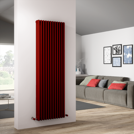Bespoke Gloss Red Traditional 4 Column Radiators - Multiple Sizes