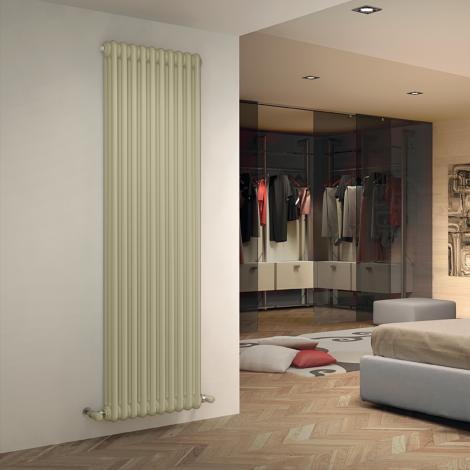 Bespoke Matt Textured Quartz Cream Traditional 3 Column Radiators - Multiple Sizes