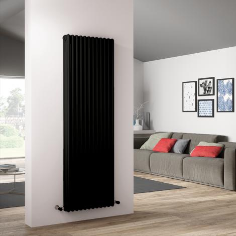 Bespoke Matt Quartz Graphite Black Traditional 4 Column Radiators - Multiple Sizes