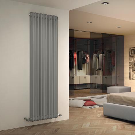 Bespoke Matt Textured Quartz Light Grey Traditional 3 Column Radiators - Multiple Sizes