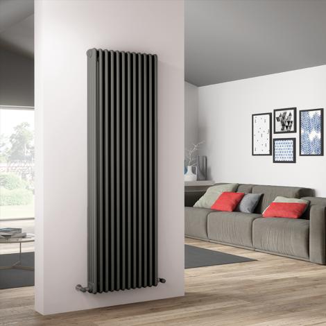 Bespoke Matt Textured Quartz Light Grey Traditional 4 Column Radiators - Multiple Sizes