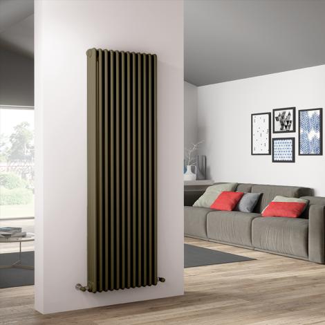 Bespoke Matt Quartz Sand Brown Traditional 4 Column Radiators - Multiple Sizes