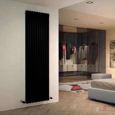 Bespoke Matt Textured Black Traditional 3 Column Radiators - Multiple Sizes