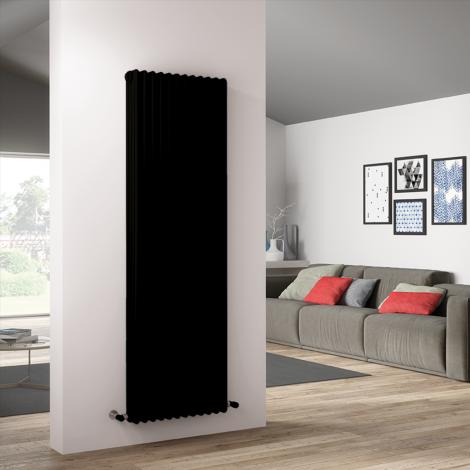 Bespoke Matt Textured Black Traditional 4 Column Radiators - Multiple Sizes