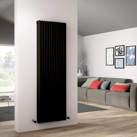 Bespoke Matt Textured Brown Traditional 4 Column Radiators - Multiple Sizes