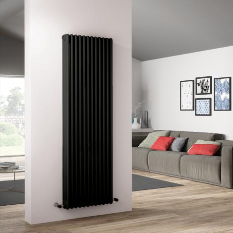 Bespoke Matt Textured Medium Grey Traditional 4 Column Radiators - Multiple Sizes