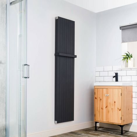 Motif Anthracite Heated Towel Rail - Multiple Sizes