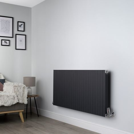 Motif Anthracite High Output Horizontal Designer Radiator - 600mm high x 1300mm wide