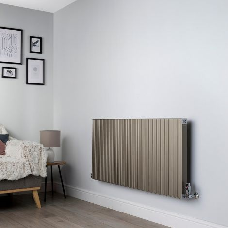 Motif Champagne Gold High Output Horizontal Designer Radiator - 600mm high x 1300mm wide