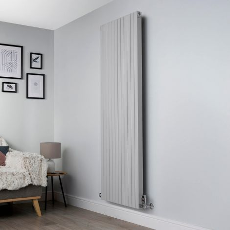 Motif Light Grey Vertical Large High Output Designer Radiator - 1750mm high x 600mm wide