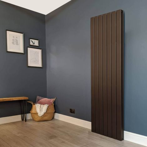 Muro Brown Tall Double Panel Radiator 1800mm high x 520mm wide