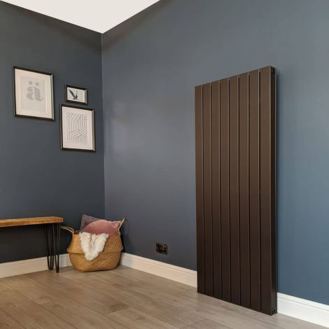 Muro Brown Tall Double Panel Radiator 1500mm high x 595mm wide