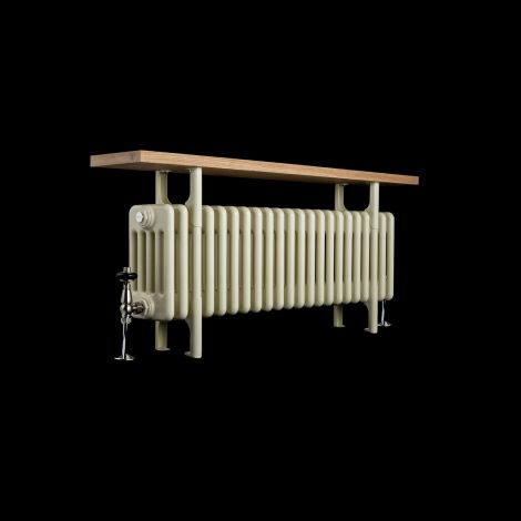 Old Style Cream Traditional 5 Column Radiator with Bench - 525mm high x 1014mm wide