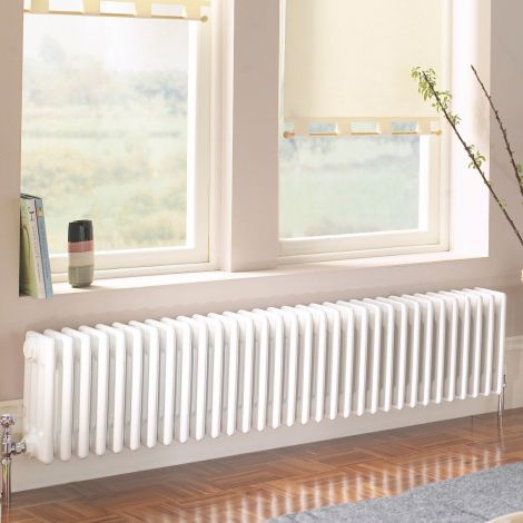 Old Style White Traditional 4 Column Radiators 400mm high - Multiple width options