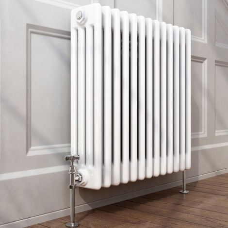 Old Style White Traditional 4 Column Radiators 500mm high - Multiple width options