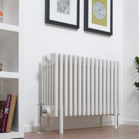 Old Style White Traditional 6 Column Radiators 600mm high - Multiple width options