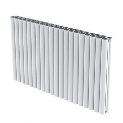 Portsmouth White Aluminium High Output Horizontal Designer Radiator 600mm high - Multiple Width Options