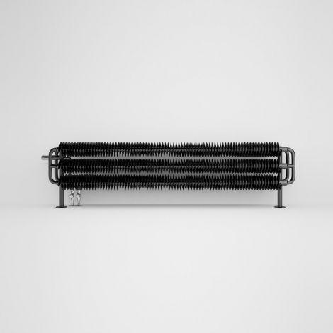 Terma Ribbon Metallic Black Horizontal Designer radiator - 290mm x 1540mm - Floating