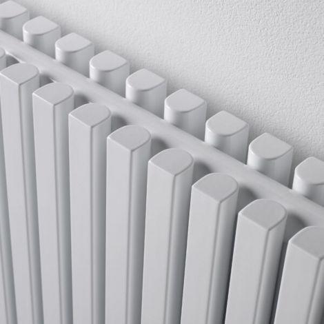 Sheffield D Profile White Vertical Double Panel Designer Radiator - Multiple Sizes