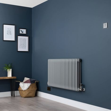Old Style Light Grey 3 Column Radiator 600 x 1059mm