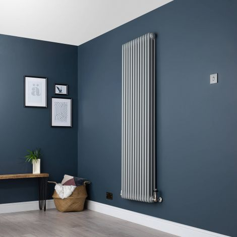 Old Style Light Grey 3 Column Radiator 1800 x 564mm