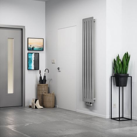 Terma Aero Salt n Pepper Vertical Designer Radiator - 1800mm x 410mm