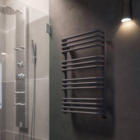 Terma Alex One Modern Grey Electric Towel Rail - Lifestyle