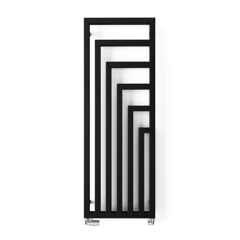 Terma Angus Heban Black Vertical Designer Radiator - 1460mm x 520mm - Floating