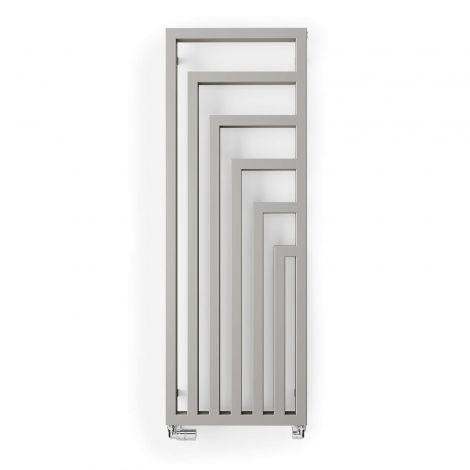 Terma Angus Nickel Matt Vertical Designer Radiator - 1460mm x 520mm - Floating