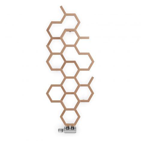 Terma Hex Bright Copper Vertical Designer Radiator - 1220mm x 486mm