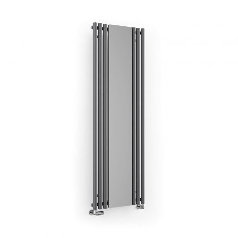 Terma Rolo Modern Grey Vertical Mirror Radiator - 1800mm x 590mm - Angled