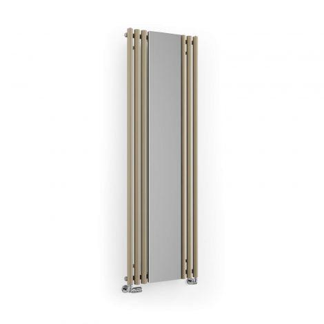 Terma Rolo Quartz Mocha Vertical Mirror Radiator - 1800mm x 590mm - Floating