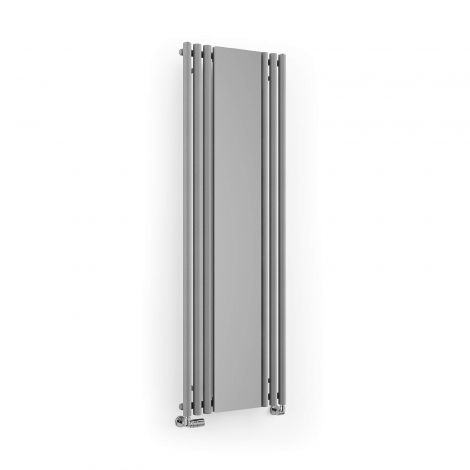 Terma Rolo Salt n Pepper Vertical Mirror Radiator - 1800mm x 590mm - Angled